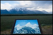 Shrinking Teton Glaciers interpretive sign. Grand Teton National Park ( color)