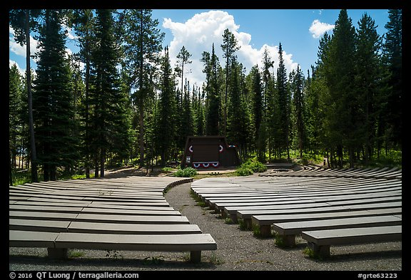 Amphitheater, Colter Bay Village. Grand Teton National Park (color)
