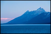 Grand Teton from Jackson Lake, dusk. Grand Teton National Park ( color)