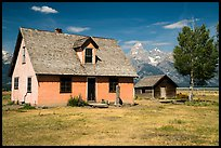 Pioneer buildings, Mormon Row. Grand Teton National Park ( color)
