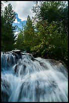 Waterfall,  Laurence S. Rockefeller Preserve. Grand Teton National Park ( color)