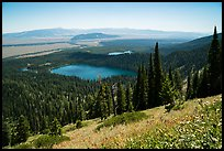 Bradley Lake and Taggart Lake from above. Grand Teton National Park ( color)