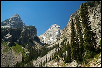 Garnet Canyon with Nez Perce and Middle Teton. Grand Teton National Park ( color)