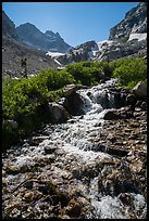 Cascading mountain stream, Garnet Canyon. Grand Teton National Park ( color)