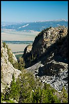 Jackson Hole from Garnet Canyon. Grand Teton National Park ( color)