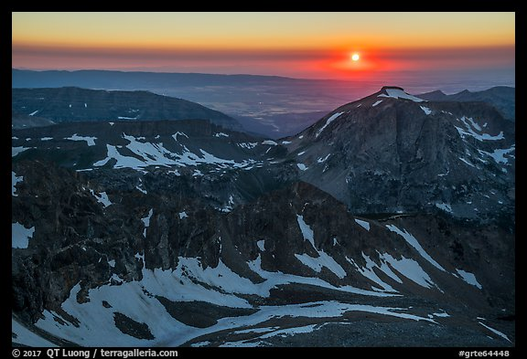 Sun setting over Table Mountain. Grand Teton National Park (color)