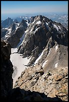 Climbers on Upper Exum Ridge, Grand Teton. Grand Teton National Park ( color)