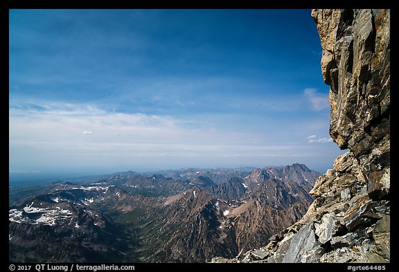 View from Upper Saddle of Grand Teton. Grand Teton National Park (color)