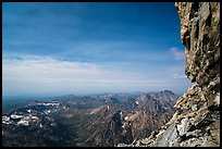 View from Upper Saddle of Grand Teton. Grand Teton National Park ( color)