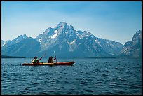Kakayers in Colter Bay with Mt Moran in background. Grand Teton National Park ( color)