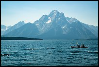 Kakayers, Colter Bay and Mt Moran. Grand Teton National Park ( color)