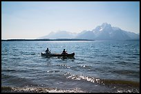 Canoists, Colter Bay and Mt Moran. Grand Teton National Park ( color)