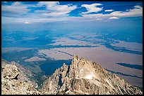 Teewinot Mountain from Grand Teton. Grand Teton National Park ( color)