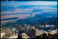 Jackson Hole from  from Grand Teton. Grand Teton National Park ( color)