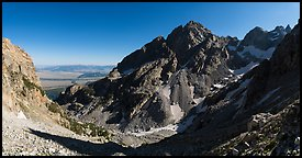 Garnet Canyon and Middle Teton. Grand Teton National Park (Panoramic color)