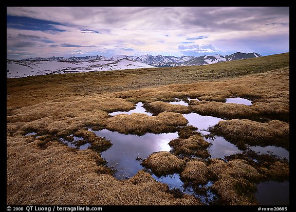 Alpine tundra and the Never Summer range in autumn. Rocky Mountain National Park (color)