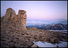 Rock Cut at dusk. Rocky Mountain National Park, Colorado, USA. (color)