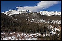 Late winter rockies landscape. Rocky Mountain National Park ( color)