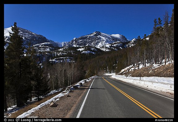 Bear Lake Road in winter. Rocky Mountain National Park (color)