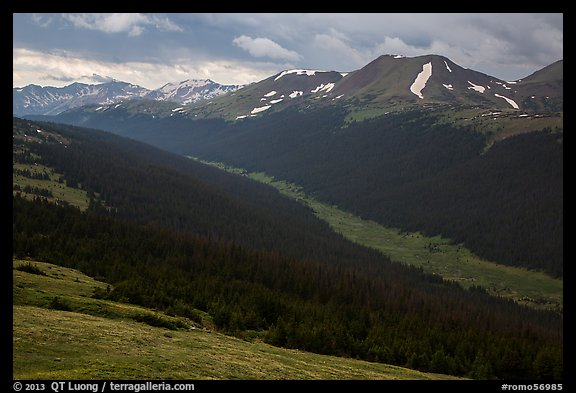 Kawuneeche Valley and Never Summer Mountains. Rocky Mountain National Park (color)