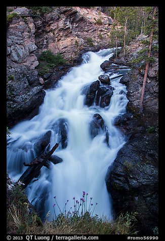 Adams Falls. Rocky Mountain National Park (color)