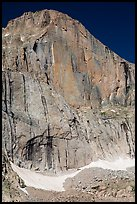 Diamond Face, Longs Peak. Rocky Mountain National Park, Colorado, USA. (color)