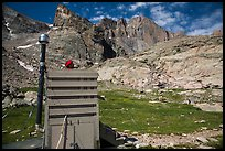 Open air toilet. Rocky Mountain National Park ( color)