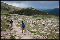 Longs Peak trail. Rocky Mountain National Park ( color)