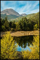 Copeland Lake in autumn. Rocky Mountain National Park ( color)