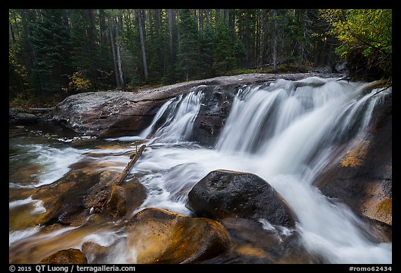 Lower Copeland Falls, Wild Basin. Rocky Mountain National Park (color)