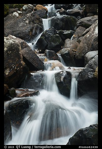Calypso Cascades detail. Rocky Mountain National Park (color)