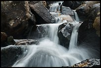 Close-up of water and boulders, Calypso Cascades. Rocky Mountain National Park ( color)