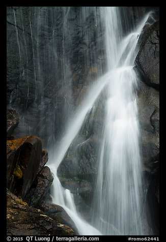 Close-up of Ouzel Falls. Rocky Mountain National Park (color)