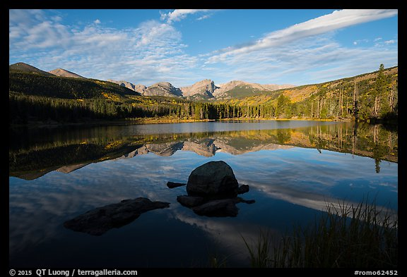 Sprague Lake and Continental Divide. Rocky Mountain National Park (color)