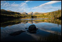 Sprague Lake and Continental Divide. Rocky Mountain National Park, Colorado, USA.