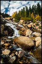 Alluvial Fan cascades. Rocky Mountain National Park ( color)