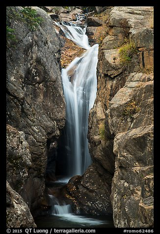 Chasm Falls. Rocky Mountain National Park (color)