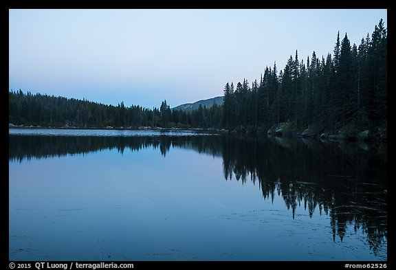 Bear Lake at dusk. Rocky Mountain National Park (color)