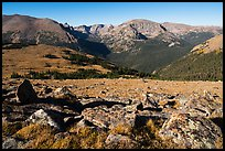 Boulders and Forest Canyon. Rocky Mountain National Park ( color)