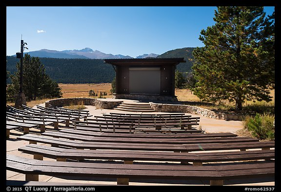 Amphitheater, Moraine Park Campground. Rocky Mountain National Park (color)