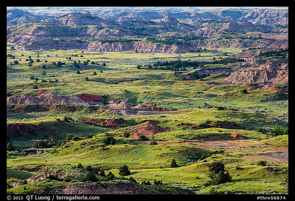 Grasslands and badlands, Painted Canyon. Theodore Roosevelt National Park (color)
