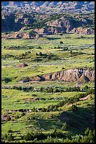 Rolling prairie and badlands, Painted Canyon. Theodore Roosevelt National Park ( color)