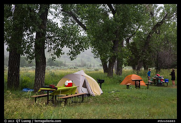 Cottonwood Campground. Theodore Roosevelt National Park (color)