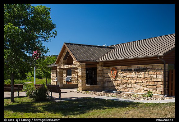 North Unit Visitor Center. Theodore Roosevelt National Park (color)