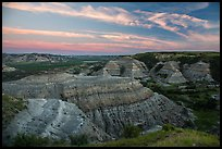 Badlands at sunset, North Unit. Theodore Roosevelt National Park ( color)