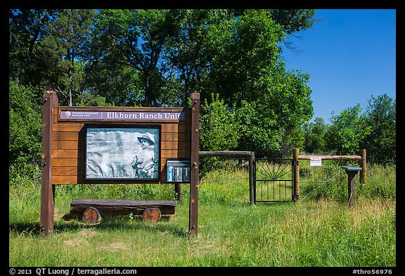 Entrance to Elkhorn Ranch Unit. Theodore Roosevelt National Park (color)