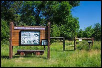 Entrance to Elkhorn Ranch Unit. Theodore Roosevelt National Park, North Dakota, USA. (color)