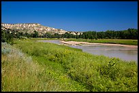 Little Missouri River next to Elkhorn Ranch Unit. Theodore Roosevelt National Park, North Dakota, USA. (color)