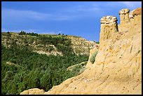 Caprock chimneys, Caprock coulee trail, North Unit. Theodore Roosevelt National Park ( color)