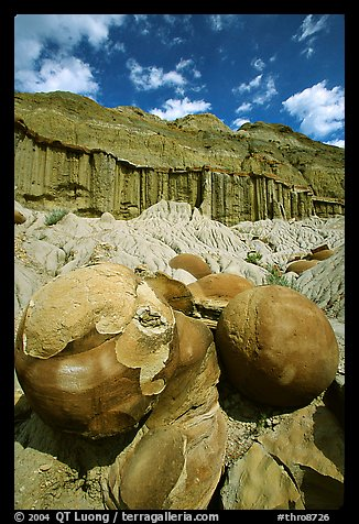 Cannon ball concretions and erosion formations. Theodore Roosevelt National Park (color)